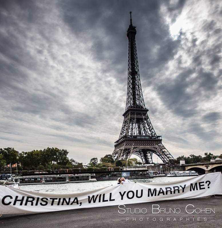 Chris & Christina – A 50″ banner to propose in front of ...