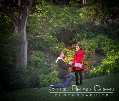 surprise proposal in paris from Montmartre asian lady red dress emotions cry happy