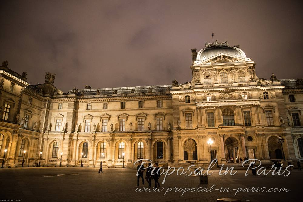 Le Louvre Museum by night