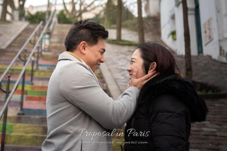 couple in love in paris